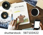 travel journey explorer... | Shutterstock . vector #587103422