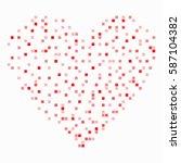 sign red pixel heart. image of... | Shutterstock .eps vector #587104382
