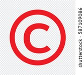 copyright symbol icon | Shutterstock .eps vector #587109086