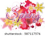 colorful spring background....