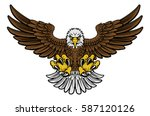 cartoon bald american eagle... | Shutterstock .eps vector #587120126