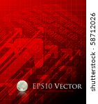red abstract business... | Shutterstock .eps vector #58712026