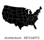 map of usa | Shutterstock .eps vector #587126972