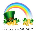 st. patrick's day green... | Shutterstock .eps vector #587134625