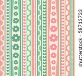 vector pattern with flowers ... | Shutterstock .eps vector #58713733