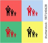 businessman growth vector  icon. | Shutterstock .eps vector #587140628