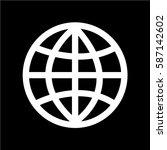 globe earth icon   Shutterstock .eps vector #587142602