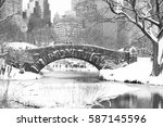 Gapstow Bridge And Snow At...