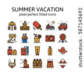 summer vacation   filled icons  ...
