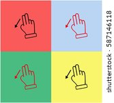 touch vector  icon. | Shutterstock .eps vector #587146118