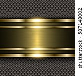 metal gold background  shiny... | Shutterstock .eps vector #587148002