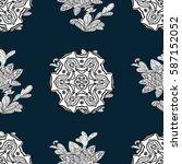 seamless pattern. vector white... | Shutterstock .eps vector #587152052