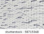texture of white brick wall | Shutterstock . vector #58715368