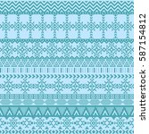 ethnic seamless pattern with... | Shutterstock .eps vector #587154812