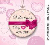 valentines day sale background... | Shutterstock .eps vector #587159312