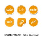 product stickers set with sale... | Shutterstock .eps vector #587160362