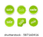 product stickers set with sale... | Shutterstock .eps vector #587160416