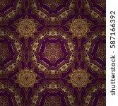 golden elements isolated on... | Shutterstock .eps vector #587166392