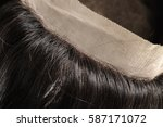close up of knots of human hair ...   Shutterstock . vector #587171072