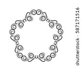 simple and elegant luxury frame ... | Shutterstock .eps vector #587171516