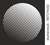 halftone pattern background... | Shutterstock .eps vector #587174102
