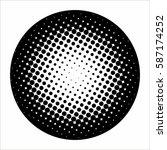 halftone pattern background... | Shutterstock .eps vector #587174252