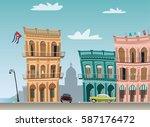 cuba landmark | Shutterstock .eps vector #587176472