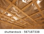 sauna construction | Shutterstock . vector #587187338