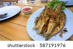 southern thai style deep fried... | Shutterstock . vector #587191976