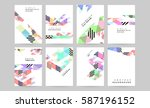 memphis geometric background... | Shutterstock .eps vector #587196152