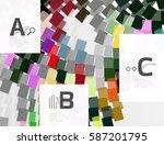 abstract lines vector...   Shutterstock .eps vector #587201795