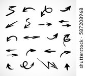 hand drawn arrows  vector set | Shutterstock .eps vector #587208968