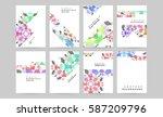 memphis geometric background... | Shutterstock .eps vector #587209796