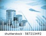 double exposure of rows of... | Shutterstock . vector #587213492