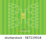 blank football tournament... | Shutterstock .eps vector #587219018