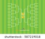 blank football tournament... | Shutterstock .eps vector #587219018