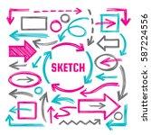 hand draw sketch vector... | Shutterstock .eps vector #587224556