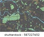 berlin vector map with dark... | Shutterstock .eps vector #587227652