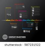 vector infographic timeline... | Shutterstock .eps vector #587231522