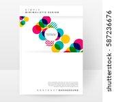 memphis geometric background... | Shutterstock .eps vector #587236676