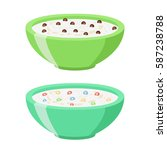 cereal chocolate balls and... | Shutterstock .eps vector #587238788