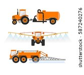 set of vector agricultural... | Shutterstock .eps vector #587240276