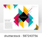 memphis geometric background... | Shutterstock .eps vector #587243756