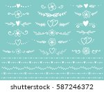 vintage flourish dividers and... | Shutterstock .eps vector #587246372