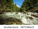 stream in the mountains in the... | Shutterstock . vector #587248622