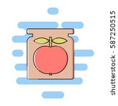 apple jam color thin line icon. ... | Shutterstock .eps vector #587250515