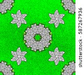 classic golden pattern. vector... | Shutterstock .eps vector #587267936