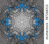 vector white pattern. seamless... | Shutterstock .eps vector #587268212