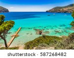 beautiful seascape scenery on... | Shutterstock . vector #587268482