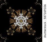 seamless pattern oriental... | Shutterstock .eps vector #587269106